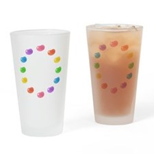 12_jelly_beans01circle Drinking Glass