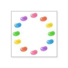 "12_jelly_beans01circle Square Sticker 3"" x 3"""