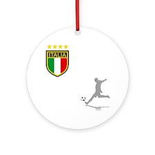 italian soccer(blk) Round Ornament