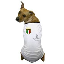 italian soccer(blk) Dog T-Shirt
