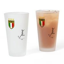 italian soccer(blk) Drinking Glass