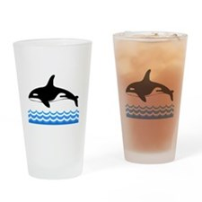 Tilly -blk Drinking Glass
