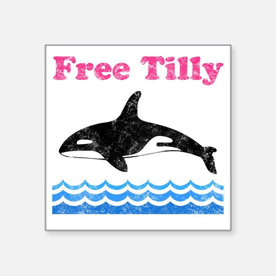 """Free Tilly Square Sticker 3"""" x 3"""""""