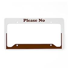 brown copy License Plate Holder