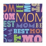 Best Mom Mothers Day Gift Tile Coaster