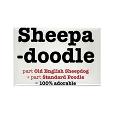 sheepadoodle Rectangle Magnet