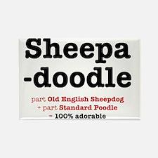 sheepadoodle Rectangle Magnet