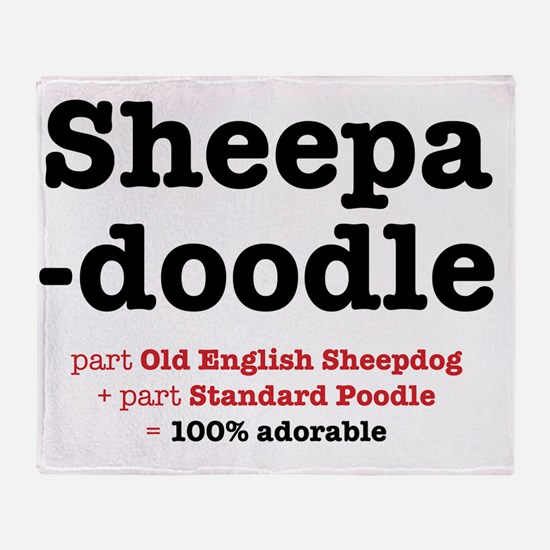 sheepadoodle Throw Blanket