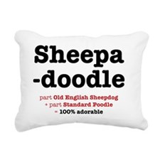 sheepadoodle Rectangular Canvas Pillow
