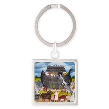 boat 003 Square Keychain
