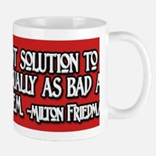 2-Milton Friedman Government Solutions Mug
