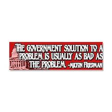 2-Milton Friedman Government Sol Car Magnet 10 x 3