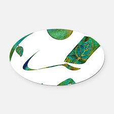 2-GreenReader Oval Car Magnet