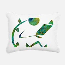 2-GreenReader Rectangular Canvas Pillow