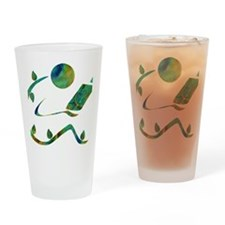 2-GreenReader Drinking Glass