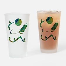 2-GreenReader Drinking Glass