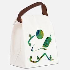 2-GreenReader Canvas Lunch Bag