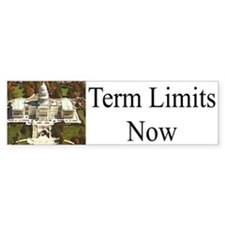 Term Limits Now Bumper Car Sticker