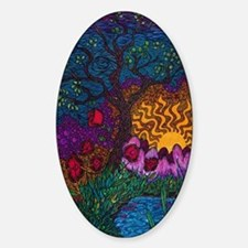 Tree by Christopher Blosser Sticker (Oval)