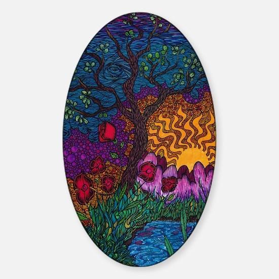 Tree by Christopher Blosser Sticker (Oval)