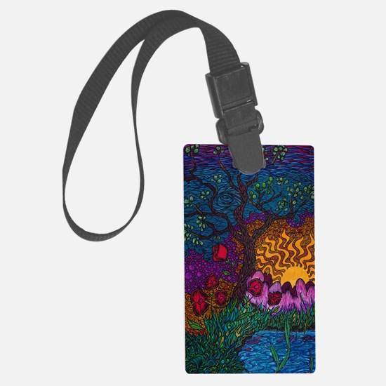 Tree by Christopher Blosser Large Luggage Tag