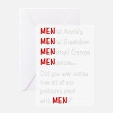 MenProblemsDark Greeting Card