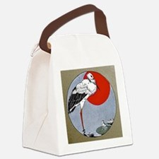 FIN-crane-ornament Canvas Lunch Bag