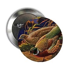 "FIN-pheasant-art-ORN 2.25"" Button"