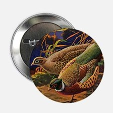"""FIN-pheasant-art-ORN 2.25"""" Button"""