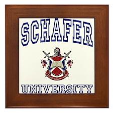 SCHAFER University Framed Tile