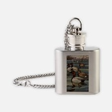 FIN-canvasback-duck-GREETCD Flask Necklace