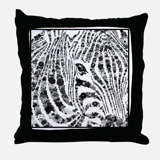 zebra of life Throw Pillow