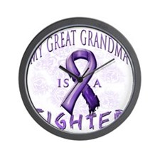 My Great Grandma Is A Fighter Purple Wall Clock