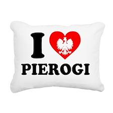 I Love Pierogi Rectangular Canvas Pillow