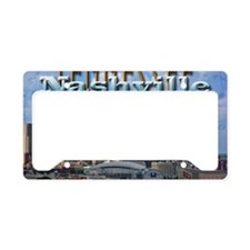nashvillepostcardCROP License Plate Holder