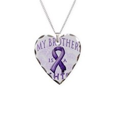 My Brother Is A Fighter Purpl Necklace