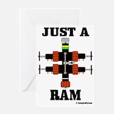 Just A Ram CC 1 A4 ad Greeting Card