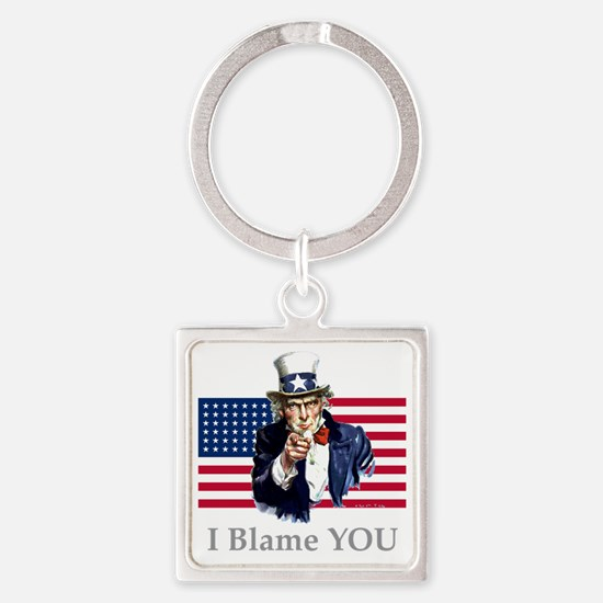 Uncle-Blame Square Keychain