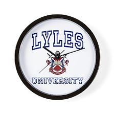 LYLES University Wall Clock