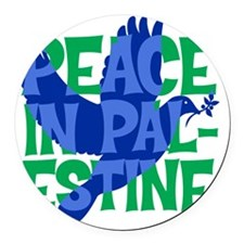 peace-in-palestine-t-shirt Round Car Magnet