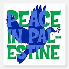 "peace-in-palestine-t-shi Square Car Magnet 3"" x 3"""
