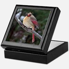 Female Cardinal 2 Keepsake Box