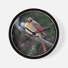 Female Cardinal 2 Wall Clock