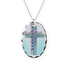 Forgiven Cross - Blue Necklace