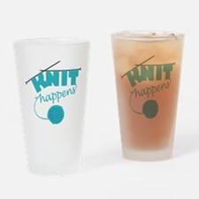 3-Knithappensedit Drinking Glass