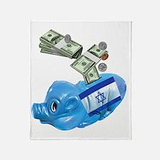 israel-piggy-bank-t-shirt Throw Blanket