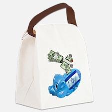 israel-piggy-bank-t-shirt Canvas Lunch Bag