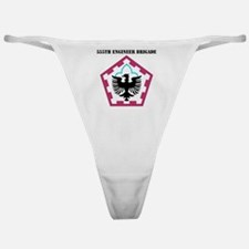 555 ENGINEER BRIGADE WITH TEXT Classic Thong