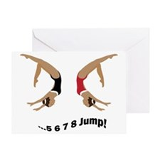 2-jump2girl Greeting Card
