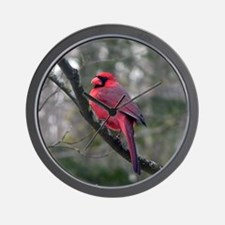 Male Cardinal 2 Wall Clock